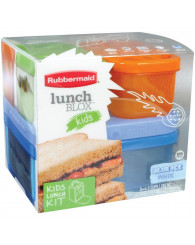 Boîte à lunch pour enfants Lunch Blox™ orange et bleu RUBBERMAID