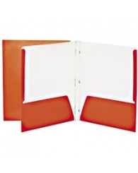 Couverture combo (pochettes+attaches) GEO carton laminé - ORANGE (No 34200OR)