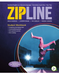 Zipline - Cycle one (Year two) Print AND digital student workbook + interactives workshops (couverture mauve) - ISBN 9998201510231