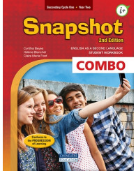Snapshot Sec. 2, Print and digital student workbook + interactives workshops, cycle 1, year 2, 2nd EDITION, (rouge) - ISBN 9782765059608)
