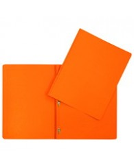 Duo tang (3 attaches) en carton ORANGE