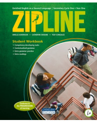 Zipline - Cycle one (Year one) Print student workbook + interactives workshops (couverture verte) - ISBN 9782765046622