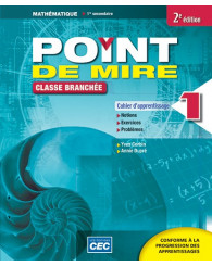 Point de mire Sec. 1 Cahier d'apprentissage 1, 2e Éd. (incluant fascicule situations problèmes et exercices interactifs) + Accèsétudiants, Web 1 an (no 254019) - ISBN 9782761741965