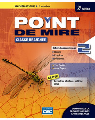 Point de mire Sec. 2 Cahier d'apprentissage 2, 2e éd. (incluant fascicule de situations problèmes et les exercices interactifs) + Accès étudiants, Web 1 an (no 217069) - ISBN 9782761791540